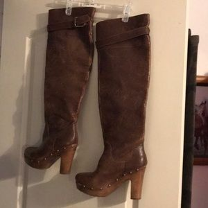 Shoes - Clog boots leather